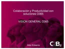 Taller: Colaboración y productividad con solucionesO365