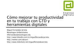 Cómo mejorar tu productividad en tu trabajo con GTD y herramientas digitales – MondragonUnibertsitatea