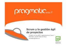 """Presentación jornada """"Scrum y la gestión ágil de proyectos"""" con Nerea Molinero –Pragmatic"""